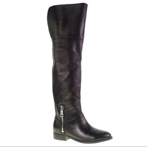 New Chinese Laundry Black Leather Knee High Boots